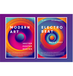 electronic music poster design with vibrant vortex vector image