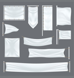 Empty or blank fabric template on transparent vector