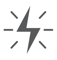 Energy glyph icon electric and power lightning vector