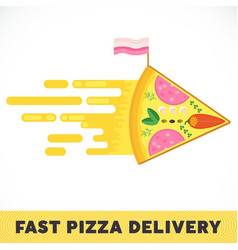 fast pizza delivery vector image
