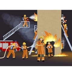 Firefighter People Design Concept vector