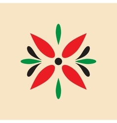 Flat icon on white background arabic flower vector
