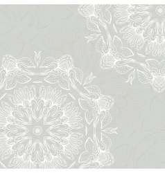 Floral ornament mandala background card vector image