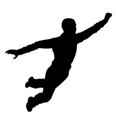 Flying man silhouette isolated on white background vector