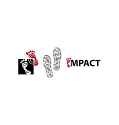 Foot health center template vector