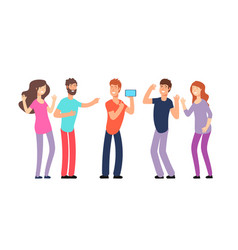 friends laughing people laughing together vector image