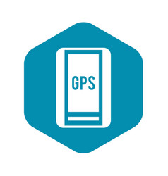Global positioning system icon simple style vector