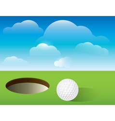 Golf Putting Green Background vector image