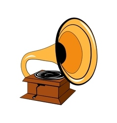 Gramophone Isolated on White vector