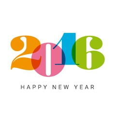 happy new year 2016 number font vector image