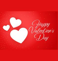 Happy valentines day celebration poster design vector