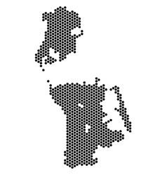 Hexagonal chinese macau map vector