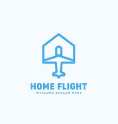 Home flight abstract sign emblem or logo vector