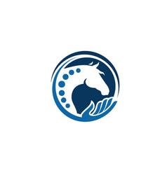 Horse logo design template vector