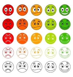 Iconic of satisfaction level vector image
