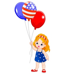 Independence Day girl vector