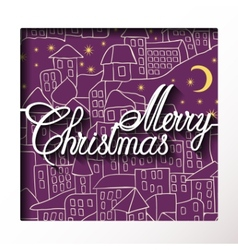 inscription paper merry christmas vector image