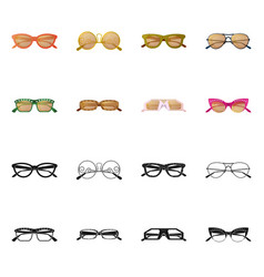 Isolated object of glasses and sunglasses icon vector
