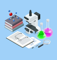isometric analysis lab chemical laboratory vector image