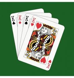 Kings Poker Royalty Free Vector Image Vectorstock