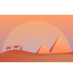 Landscape in savanna Camel vector