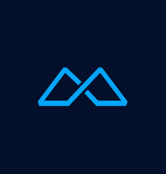 letter m mountain creative abstract business logo vector image