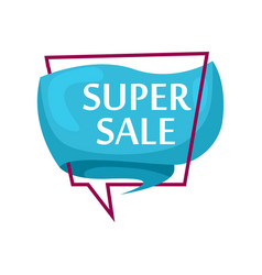 marketing speech bubble with super sale phrase vector image