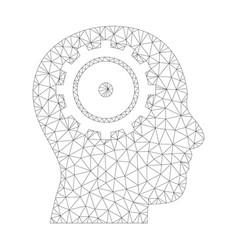 mesh intellect icon vector image