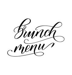 Modern brush calligraphy brunch menu vector
