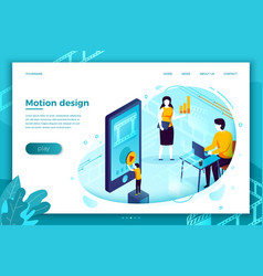 motion design studio working process vector image