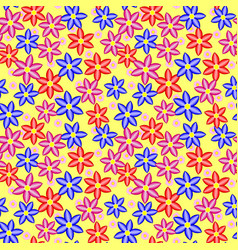 multi colored seamless floral pattern vector image