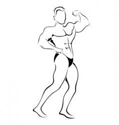 muscle man sketch vector image