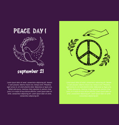 Peace day september 21 on vector