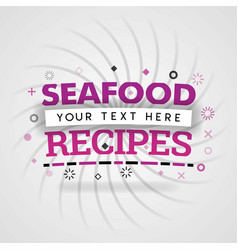 Pink logo for seafood recipes for recipe websites vector