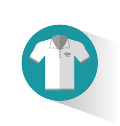 Polo shirt golf wear vector
