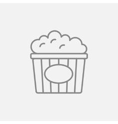 Popcorn line icon vector