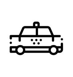 public transport taxi car cab sign icon vector image