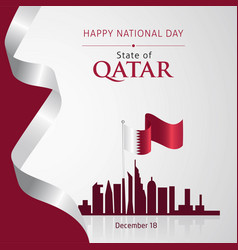 Qatar national day december 18 vector