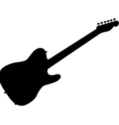 Rock Guitar Silhouette vector image