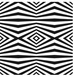 seamless pattern with black and white stripes vector image