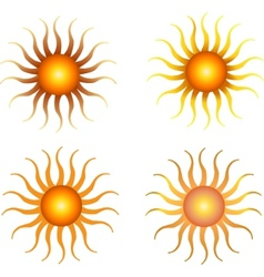 set of sun vector vector image
