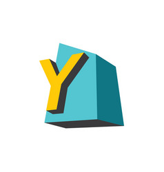 sign of the letter y vector image