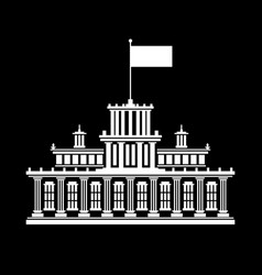 silhouette government house vector image