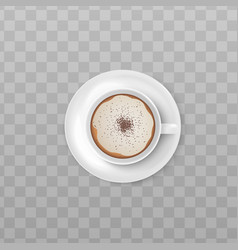 sweet coffee with chocolate or cinnamon sprinkle vector image