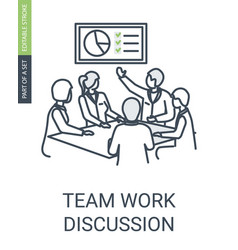 team work discussion icon business conference vector image