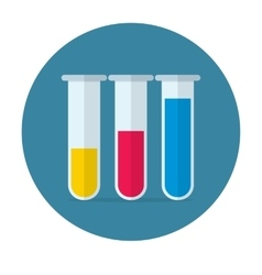 Test tube flat icon vector