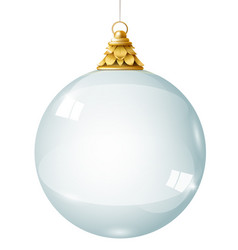 Transparent glass garland crystal ball vector