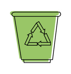 trash bucket icon vector image