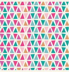 triangle shape seamless with pink vector image