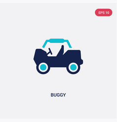 Two color buggy icon from free time concept vector